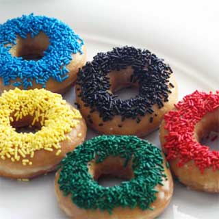 Olympics-sprinkle-donuts