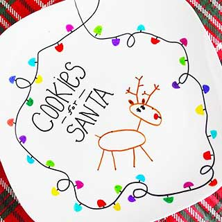 Santa-cookie-plate-diy