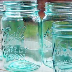 Tinted-mason-jars