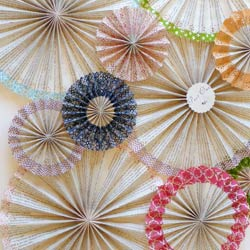Diy party projects and crafts catch my party washi tape paper fan backdrop solutioingenieria Choice Image