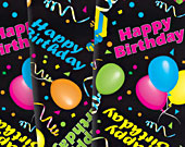 Napkin-black-happy-birthday-170