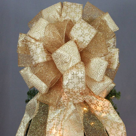 Antique-gold-sparkle-mesh-swirl-christmas-tree-bow-570