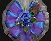 Royal-blue-rose-purple-peacock-wedding-bows-170