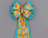 Yellow-egg-turquoise-polka-dot-easter-bow-170