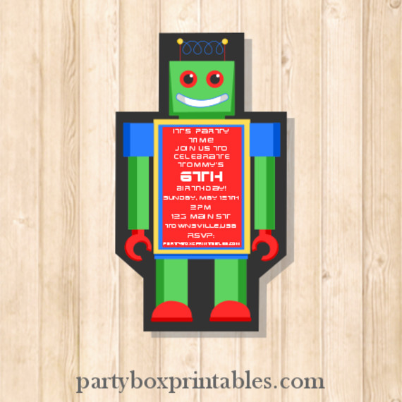 Robot-custom-invite-570