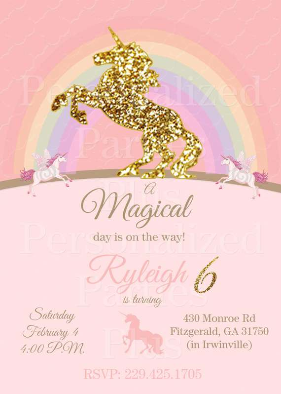 Unicorn Birthday Invitation Pink By Parties Plus Catch My Party