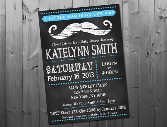 Chalkboard mustache baby shower invitation by pink owl party studio baby shower 570 filmwisefo