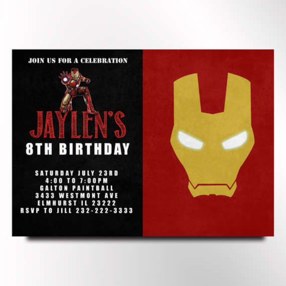 IRON MAN BIRTHDAY INVITATION by Pink Nerd Printables Catch My Party