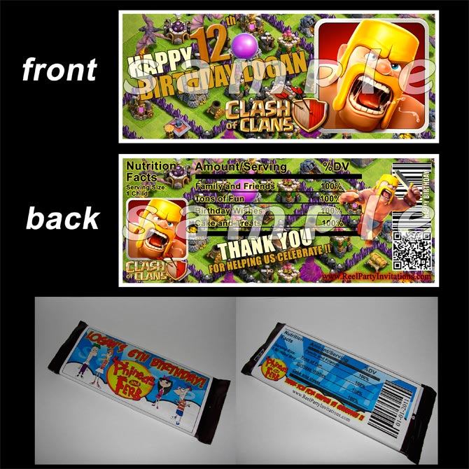 f5521fc90 Clash of Clans Candy Bar Wrappers by Reel Party Invitations