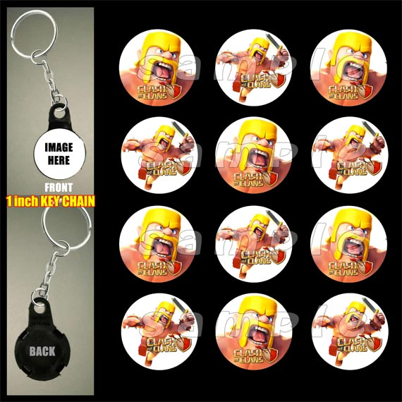 bf6e96aaf Clash of Clans Key Chains by Reel Party Invitations