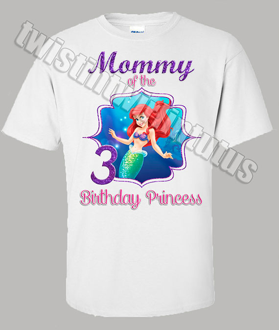 Little Mermaid Mom Birthday Shirt 570