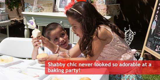 Shabby Chic Baking Birthday Party