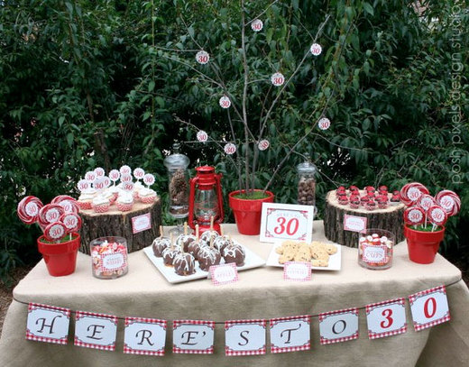 Rustic birthday party ideas photo 2 of 41 catch my party for 30th birthday decoration packages