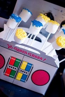 Yo Gabba Gabba  / Birthday / Party Photo: marshmallow pops
