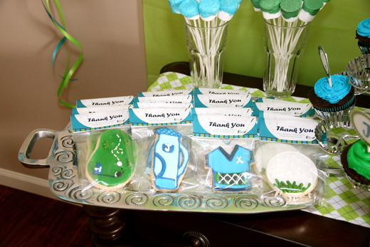 Golf/Argyle / Birthday / Party Favors: Cookie Favors