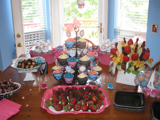Hello Kitty / Graduation/End of School / Party Photo: Dessert Table
