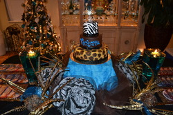 Sweet 16 Zebra, Leopard - DIVA Royal Blue & Zebra