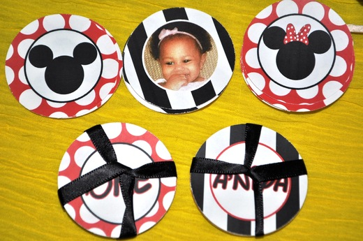 Inspired Minnie & Mickey A'niya's 1st Party / Birthday / Party Photo: