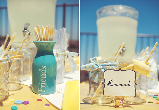 Cute as a Button  / Birthday / Food & Drink: our delicious fresh lemonade