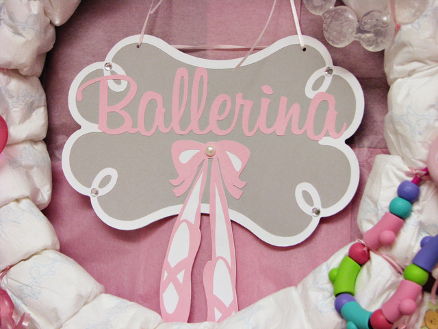ballerina baby shower party photo ballerina sign for the diaper