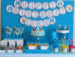 Cole's First Birthday Pool Party - Pool Party