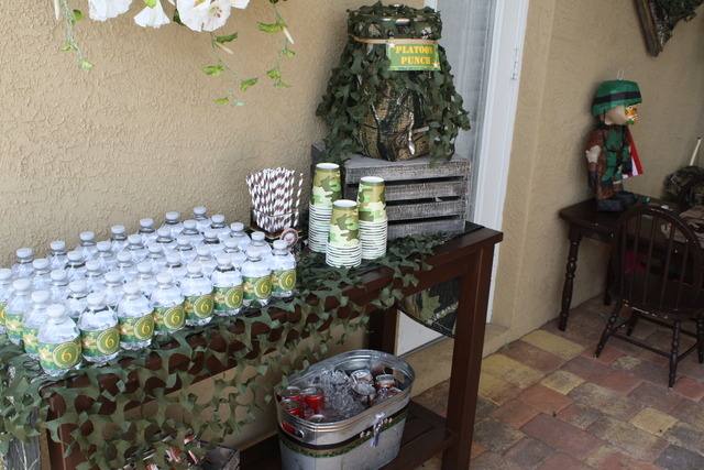Military birthday party ideas photo 24 of 27 catch my for Army party decoration