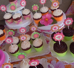 Quinn's Birthday Luau - pink, orange, green Luau