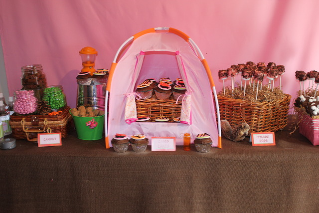 Camping Party for 7 year old girls Birthday Party Ideas  Photo 9 of ...