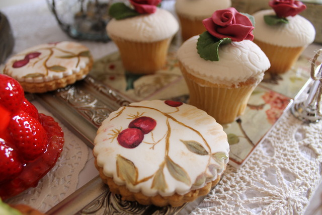 Vintage Rose and Doiy Inspired / Birthday / Party Photo: