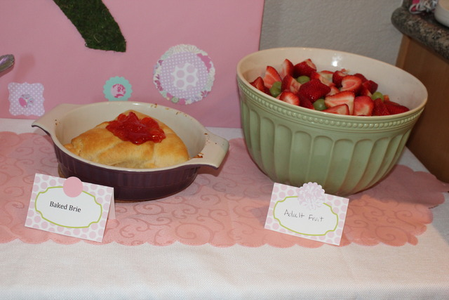 Garden Fairy / Birthday / Party Photo: Baked brie and