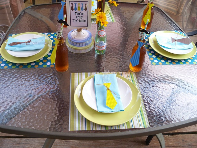 DIY Father´s Day Party Decoration.