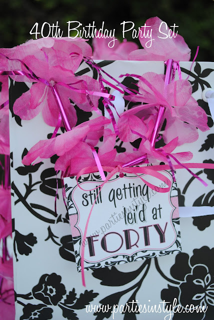 Fine fun fierce fabulous forty birthday party ideas for 40 birthday decoration ideas