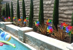 Last day of school Summer Pool Party - Rainbow Chevron Pool party