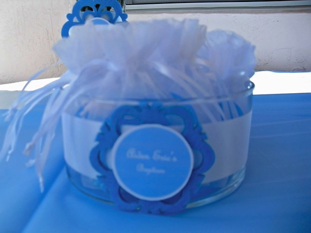 light blue and white  / Baptism / Party Photo: