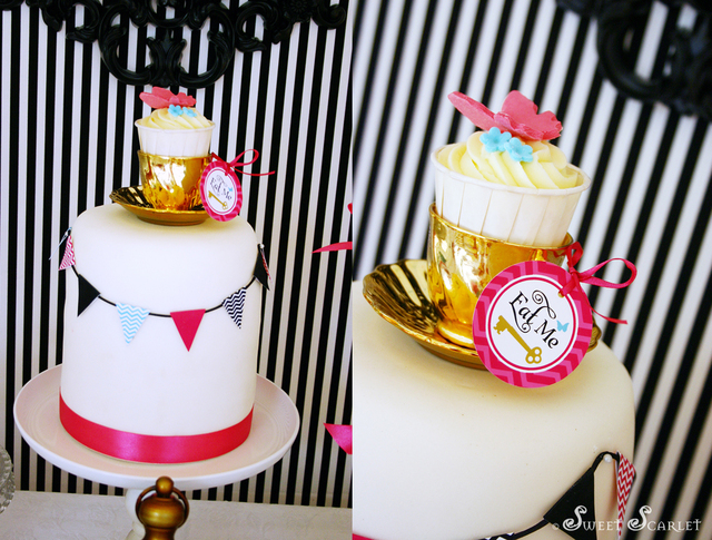 Alice in Wonderland, Mad Tea Party / Birthday / Cake: Mad Hatter Tea Party Birthday Cake
