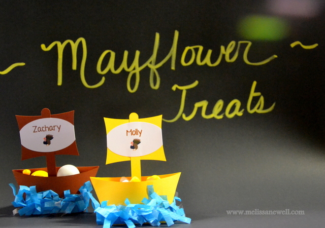 Mayflower / Thanksgiving / Party Photo: The Mayflower Treat Containers
