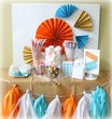 Orange, Gold & Teal Spa Party - Spa Party