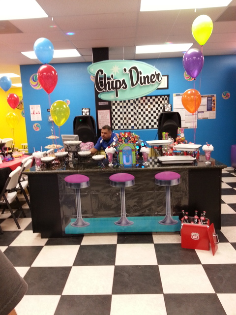 Sock hop 50 39 s theme birthday party ideas photo 2 of 23 for 50 s party decoration ideas