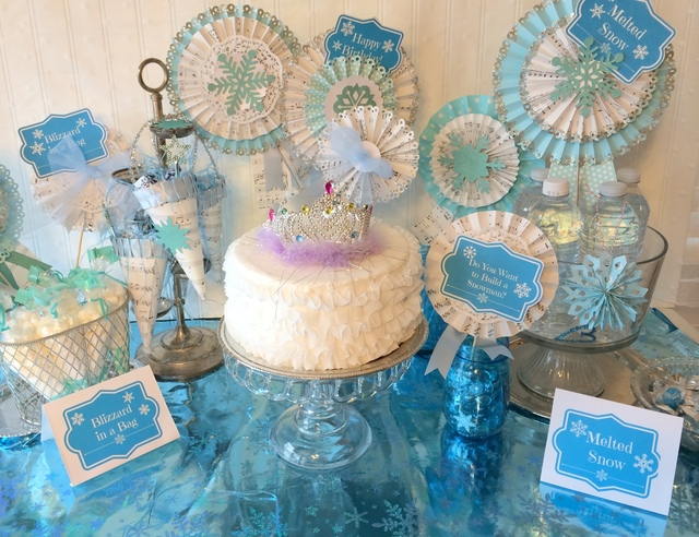 Frozen Birthday Party Decoration Ideas