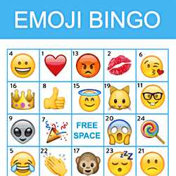 Emoji Bingo Printables Free Download - Birthday | Catch My Party