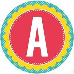 image regarding Happy Birthday Printable Letters named Total Alphabet Circle Banner Printables Absolutely free Down load