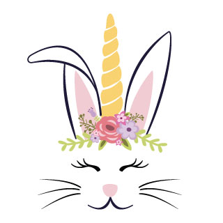 photograph regarding Easter Bunny Printable named Unicorn Easter Bunny Printables Totally free Down load - Easter