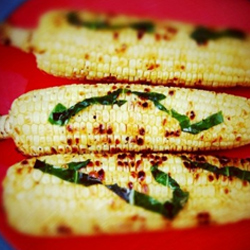 Grilled-corn-with-basil-butter-oil