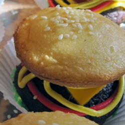Hamburger-cupcakes